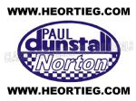 Paul Dunstall Norton Tank and Fairing Transfer Decal D20084A-2